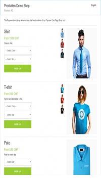 application mobile e-commerce